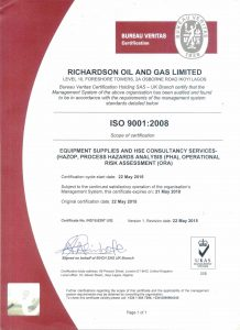 Richardson-ISO-certificate